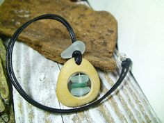 Sea Glass Necklace  Bohemian Jewelry Pebble by MoreThanSeaGlass