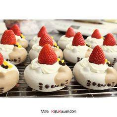 Strawberry Kitty Donuts
