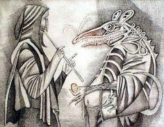 Adolf BORN Cartoon Knight, Hans Christian, Etchings, Animation Film, Modern Art, Behance, Paintings, Drawings, Illustration