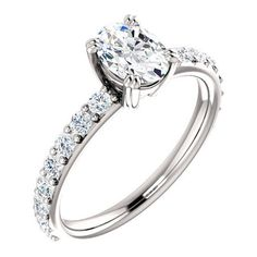 Jewelry & Watches Temperate Accents Solitaire Engagement Ring 1ct Oval Cut Diamond 14k Rose Gold Finish Fine Rings