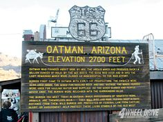 The Ghost town Oatman, Arizona.  My grandpa took us here when we were kids.  I've only been here once but I'll never forget how amazing it was