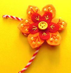 Felt -  Flower - Martenitsa