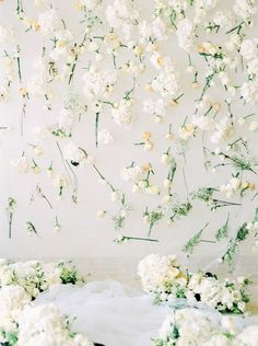 Floral backdrop of fresh-cut white roses // Swan Lake: Boudoir Portraits with a Real Ballerina Bride Flower Wall Wedding, White Wedding Flowers, Wedding Flower Arrangements, Flower Bouquet Wedding, White Weddings, Indian Weddings, Balloon Backdrop, Floral Backdrop, Backdrop Ideas