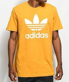 adidas Trefoil Tactile Yellow T-Shirt