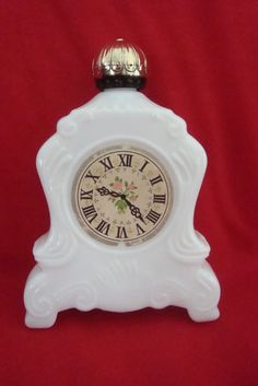 Vintage 70s Avon Collectible Bottle, Clock Design