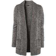 H&M Cardigan ($14) ❤ liked on Polyvore featuring tops, cardigans, outerwear, h&m, sweaters, abrigo, black, marled cardigan, h&m tops and cardigan top