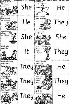 Dicas de Português e Inglês: Aprenda brincando com as regras do Simple Present....