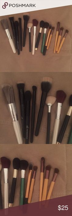 Misc make up brush bundle FREE GIFTS INCLUDED Miscellaneous make up brushes... Elf, real techniques, eco tools, ULTA brand, costal scents, Clinique Makeup Brushes & Tools