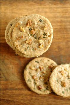 Crackers avoine, noix, huile d'olive, thym & fleur de sel