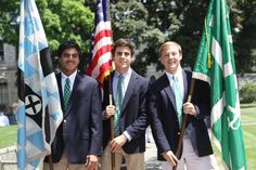 Next year's student school leaders formed the color guard