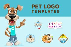 Pet Logo Templates   GraphicMama Dog Pet Shop, Summer Logo, Pet Logo, Free Web Fonts, File Organization, Travel Logo, Shop Logo, Animal Logo, Vector File