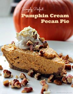 Pumpkin Cream Pecan Pie