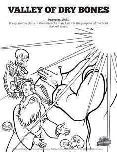 ezekiel dry bones coloring page - elisha and naaman biblia dla dzieci kolorowanki