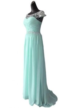 Emma Y Pretty Bateau Evening Dress Bridesmaid Dresses Cap Sleeves- US Size 4-Light Blue  - Click image twice for more info - See a larger selection of prom dresses at http://girlsdressgallery.com/product-category/prom-party-dresses/ - woman, girls, junior dresses, girls dresses, teenager, girls fashion, womens fashion, gift ideas, dresses,special occasion dresses , night dresses, party dresses, gown