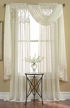 , Furnishing with summer curtains! Here are 17 ideas for the home that will inspire you - . , Furnishing with summer curtains! Here are 17 ideas for the home that will inspire you - furnish the summertime. Scarf Curtains, Drapes Curtains, Bedroom Curtains, Valances, Drapery, Valance Window Treatments, Window Coverings, Rideaux Design, Curtain Designs