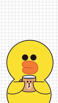 Sally is soooo cute ^~^ Iphone Wallpaper Stars, Duck Wallpaper, Lines Wallpaper, Couple Wallpaper, Kawaii Wallpaper, Tumblr Wallpaper, Kawaii Drawings, Cute Drawings, Line Cony