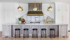 Silverhorn Show Home - Transitional - Kitchen - Calgary - by Maillot Homes French Country Kitchens, French Kitchen, Vintage Kitchen, Kitchen Modern, Stone Interior, Interior Design, Kitchen Items, Kitchen Decor, Bistro Chairs