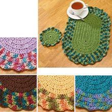 Herrschners® Essential Place Mats & Coasters Set Crochet Yarn Kit