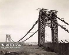 New York City Images, Fort Lee, Washington Heights, Suspension Bridge, City That Never Sleeps, Hudson River, George Washington Bridge, Under Construction, Detailed Image