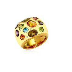 KIKI MCDONOUGH RINGS 18K YELLOW GOLD WHITE DI Yellow Gold