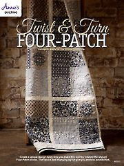Twist & Turn Four-Patch Quilt Pattern from AnniesCatalog.com. Order here: https://www.anniescatalog.com/detail.html?prod_id=122284&cat_id=467