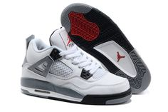 Air jordan 4 white grey women shoes  $80.52