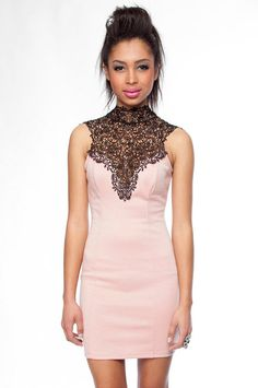 Great contrasting details! CocoLove's Tara Lace Dress.