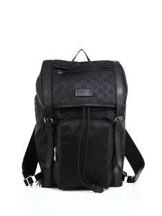 6e453b7f651 Gucci Nylon Sima Backpack in Black