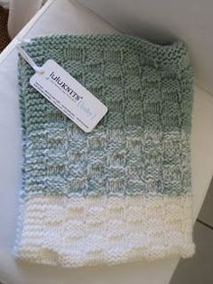 Basket Weave Baby Blanket By Lulustar - Free Knitted Pattern - Uses two pieces of yarn at a time Baby Knitting Patterns, Free Baby Blanket Patterns, Knitting Blogs, Baby Patterns, Free Knitting, Knitting Projects, Crochet Patterns, Knitting Ideas, Weaving Patterns