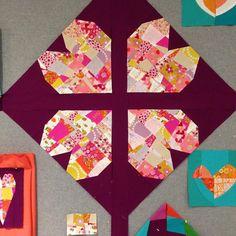 Taking shape, heart shape. Valentine Day Crafts, Valentines, Sewing Crafts, Sewing Projects, Heart Day, Taking Shape, Sewing Studio, Quilt Blocks, Heart Shapes