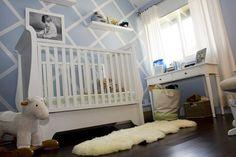 Modern baby blue boy's nursery - so sweet