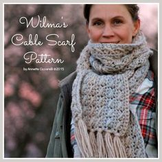 Wilma's Cable Scarf Pattern