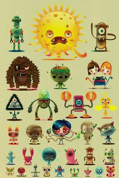 fightmymonster by jonathan ball, via Behance