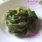 Pasta con crema di noci e spinaci