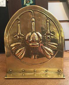 Glasgow style beaten brass letter rack by Margaret Gilmour