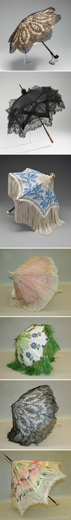 @Mandy Ness- these are amazing. Let's bring back strolling around with parasols...    19th Century Parasols