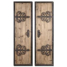 Abelardo Panels Wall Art / Wall Decor - Set of 2 These Oversized, Decorative Wall Panels Are Made Of Lightly Stained Rustic Wood With Wrought Iron Metal Details. Wrought Iron Wall Art, Decorative Wall Panels, Decorative Metal, Wall Decor Set, Tuscan Wall Decor, Metal Wall Decor, Tuscan Decorating, Panel Wall Art, Iron Decor