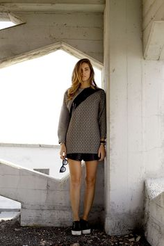 Gaelle Bonheur dress, Superga for the Blonde Salad sneakers.