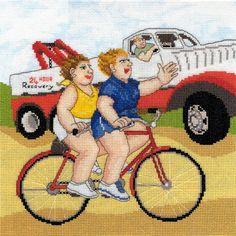 Beryl Cook Wheels Cross Stitch Kit