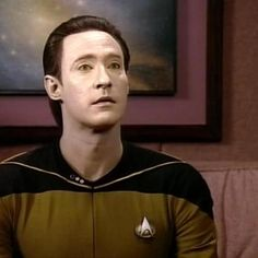 Lieutenant Commander Data, Star Trek: The Next Generation, played by Brent Spiner. The android who would be human...a futuristic Pinocchio.
