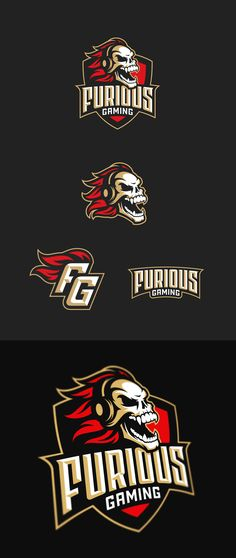 Furious Gaming by Yury Orlov Team Logo, Go Logo, Viking Logo, Esports Logo, Logo Shapes, Make Your Own Logo, Sports Graphics, Images And Words, Badge Design