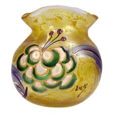Colored Art Glass Vase Signed Legas | French | 1950s - $350.