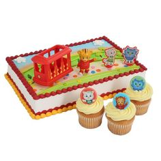 Daniel Tiger Officially Licensed Cake Topper and 24 Cupcake Topper Rings * Haven't you heard that you can find more discounts at this image link : Baking desserts tools