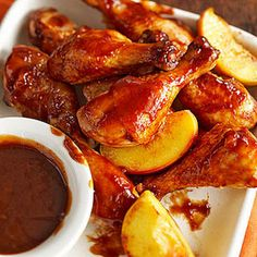 Peachy Barbecue Chicken-Slow Cooker @keyingredient #chicken #slowcooker