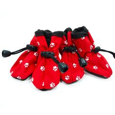 Slip-On Paws Dog Booties by Dogo - Red