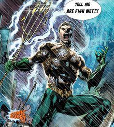 The internet debate has reached Atlantis! #aquaman #dc #dccomics #atlantis #aquamancomiccon  #arefishwet #iswaterwet #comicburst