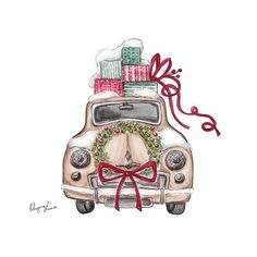 "Ksenia Artist auf Instagram: ""Christmas cards To order DIRECT 🌟 #drawing#instabeauty#art#illustration#shopping#picture#artwork#artist#follow#look#love#car #red #елка #подарки #рисунок #санктпетербург #christmas #newyear #gift #saintpetersburg #winter #Snow#зима#новыйгод #открытка#card#fashionillustrator #fashion #moda"""