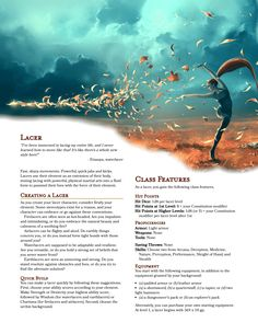 DnD Homebrew — The Lacer class by The Lacer forms are. Dungeons And Dragons Races, Dungeons And Dragons Classes, Dnd Dragons, Dungeons And Dragons Homebrew, Gerardo Gonzalez, Dnd Stories, Dnd Races, Dnd Classes, Dungeon Master's Guide