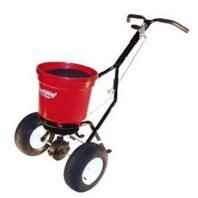 Earthway - Pro Broadcast Spreader - Red - 50 Lb Hopper - 052732221994. • Exclusive Dual Port Shut-Off System With Right and Left Side Adjustable Throwing Ports That Allow Spread Pattern Adjustment • Solid Direct Connect Linkage For Positive Flow Control • High Volume 1325 Cubic Inch Poly Hopper Will Hold Up To 50 Pounds Of Fertilizer and Includes Hopper Screen