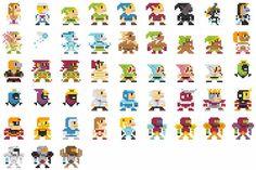 09-696 personajes clásicos geeks versión 8-Bits.